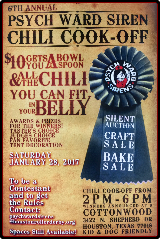 Houston Win Chili Cook-Off Tickets 1/28/17