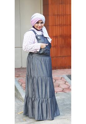 Model Baju Overall Dress Muslimah Big Size Terbaru 2015