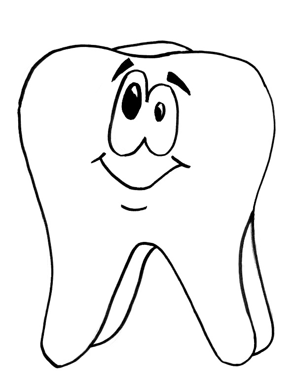 Template of tooth coloring page coloring pages for Teeth coloring pages