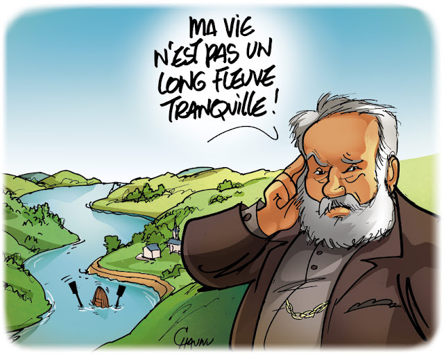 Victor hugo - dessin humoristique pour l'expo illustres normands