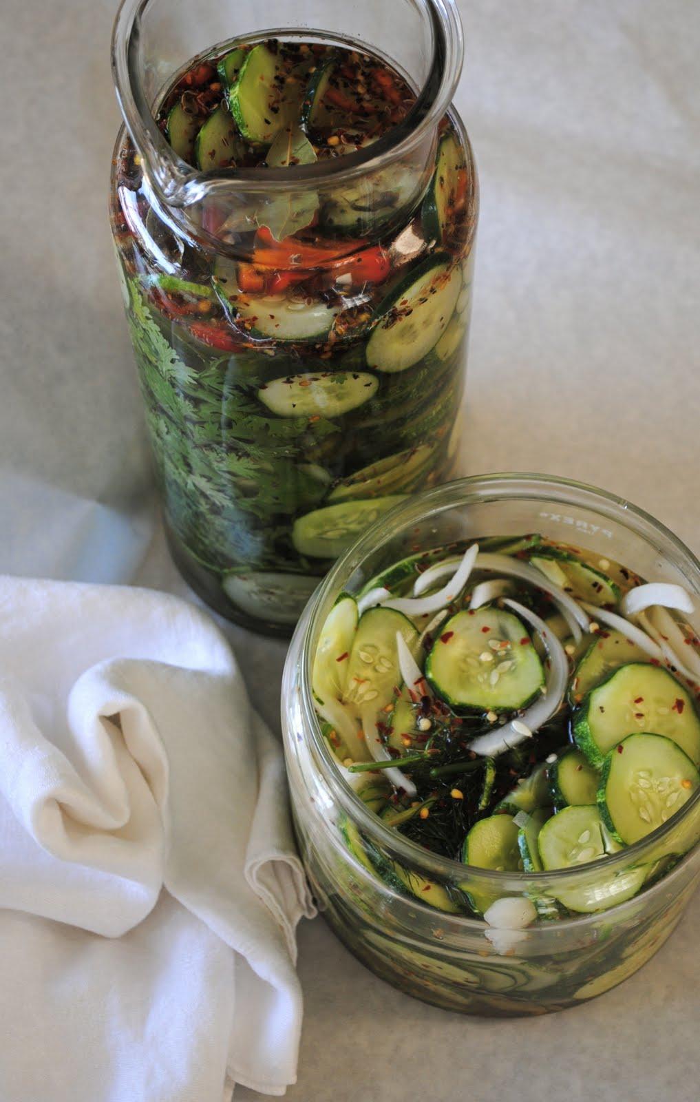 Refrigerator Pickles Recipe — Dishmaps
