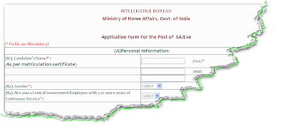 IB Security Assistant Online Form 2012