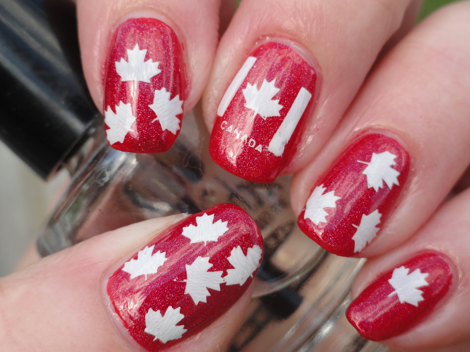 Canadian Nail Fanatic Canada Day Nails