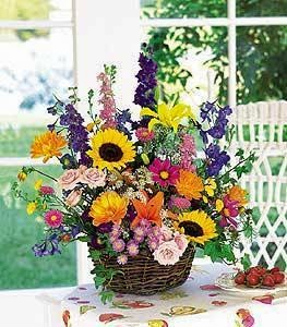Flowers basket delivery in Qatar