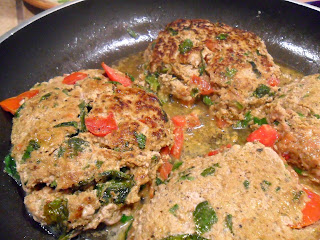 Tomato Basil Turkey Burgers from Hungry Gator Gal