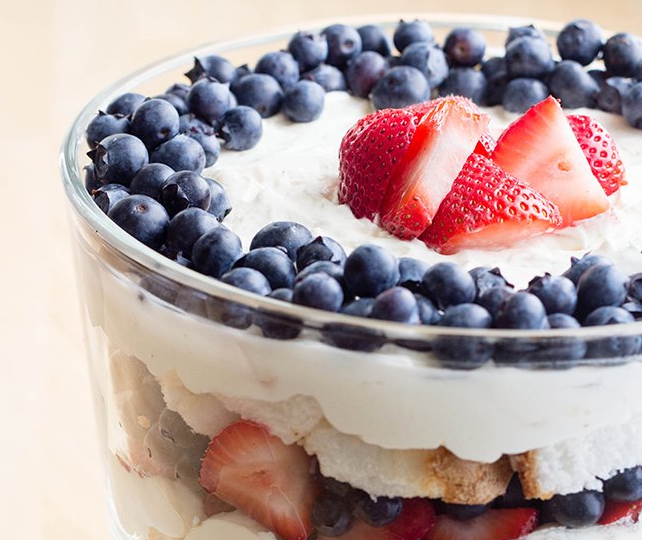 http://www.skinnymom.com/2014/06/15/red-white-and-blue-trifle/