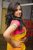 Leema glamorous photos in half saree-thumbnail-13