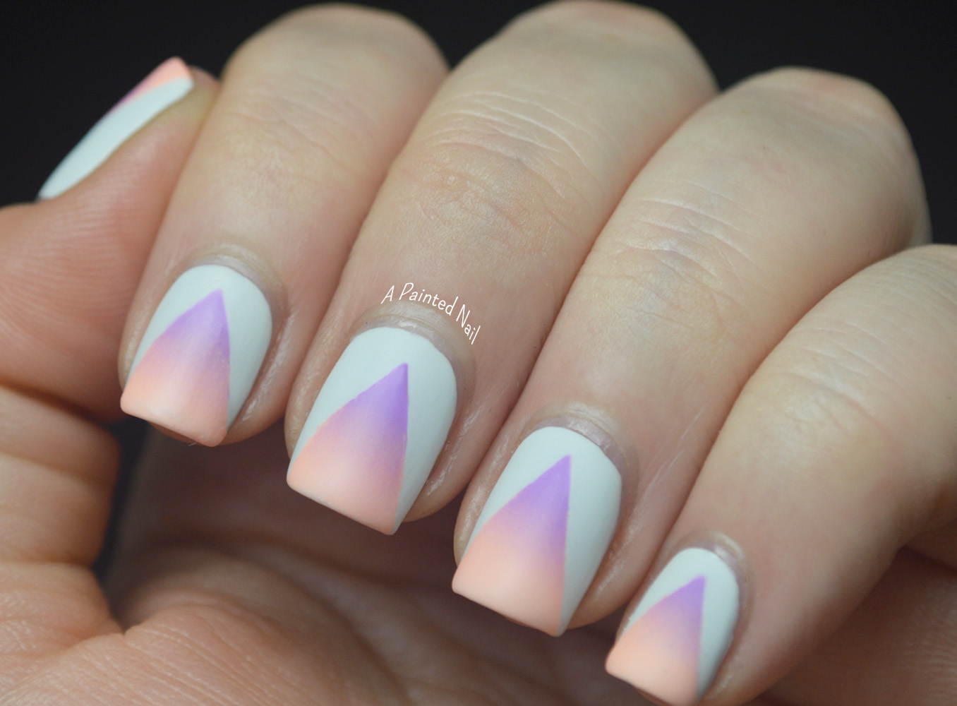 A Painted Nail: Summer Nail Art Series: Matte Neon Gradient Cut Outs