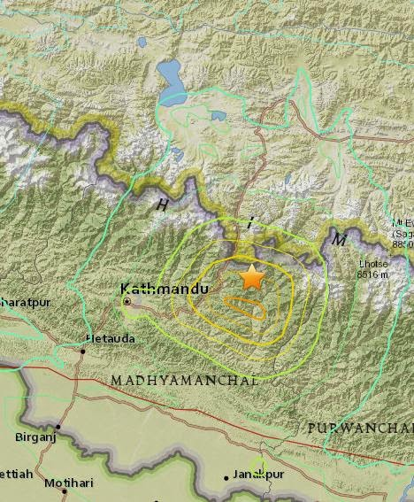 Magnitude 7.3 Earthquake of Kodari, Nepal 2015-05-12