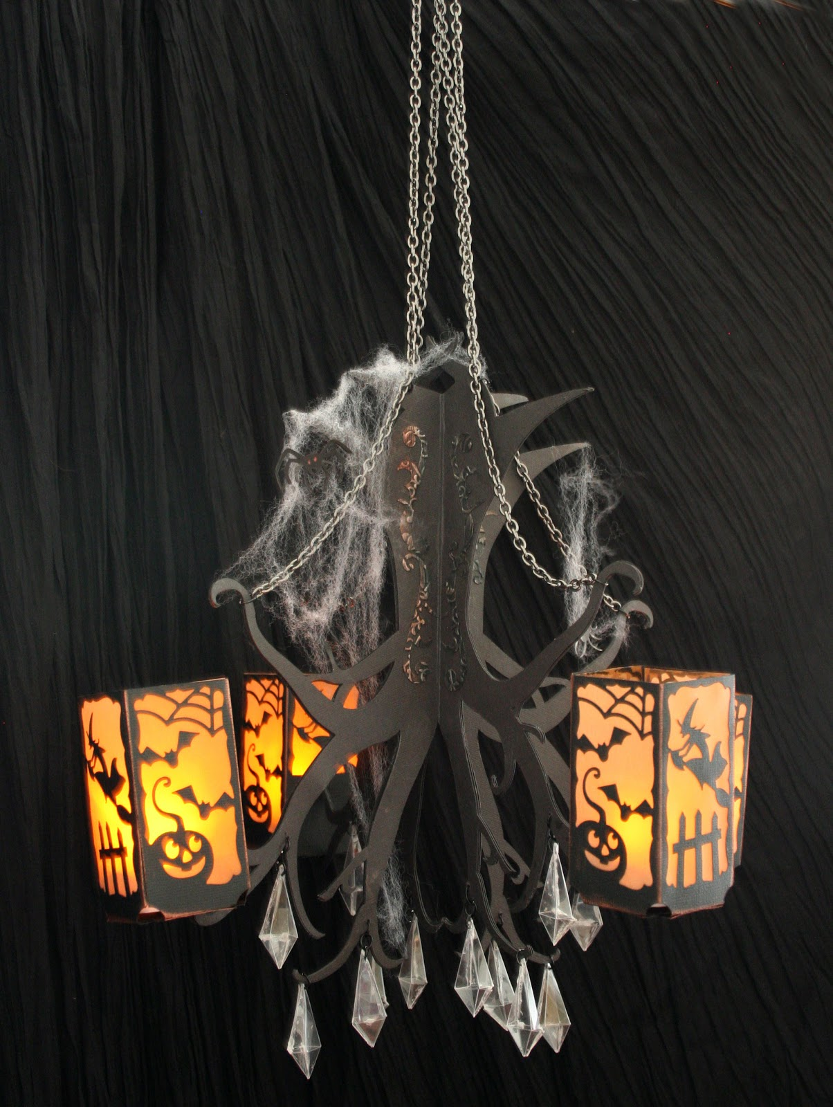 Debs crafty side creepy chandelier the body of the chandelier was the tree used upside down from hazels wicked witch craft i opened the tree in ecal and duplicated it flipped one over mozeypictures Gallery