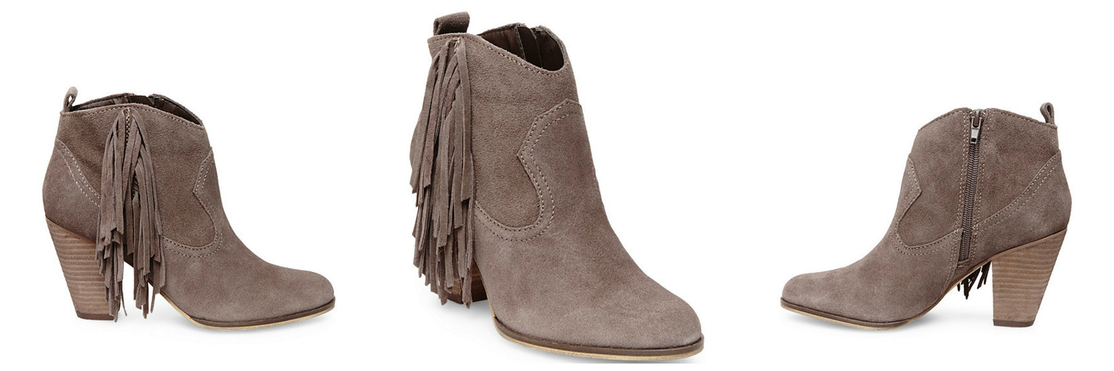 Look for Less: Steve Madden Fringe Booties - Sensible Stylista