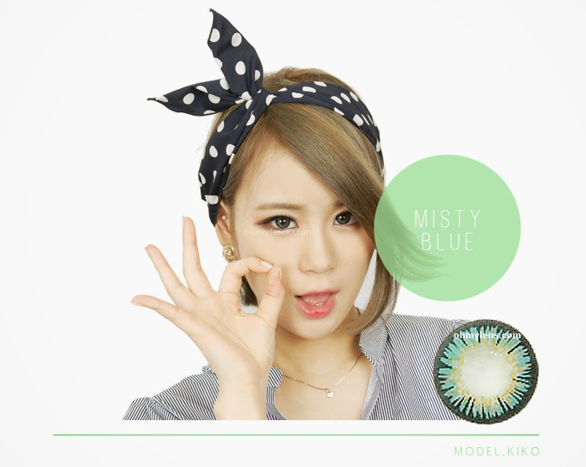 Misty Blue Contact Lenses (3 Tone Blue) at ohmylens.com