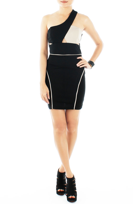 Black & Cream Captive Royale Dress