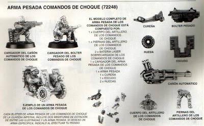 Armas pesadas para los Comandos de Choque de la Guardía Imperial