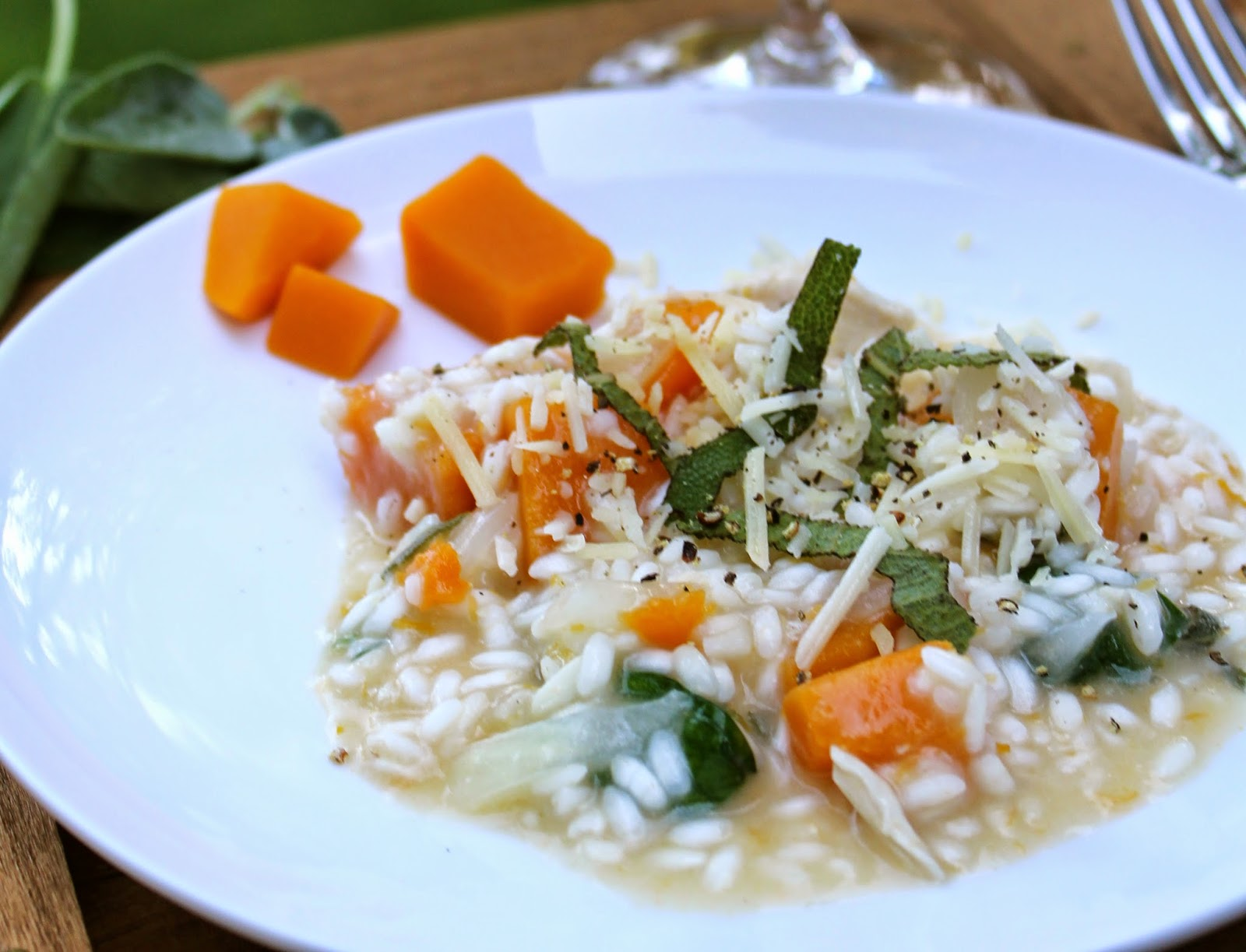 Risotto with Butternut Squash, Chicken and Sage for #SundaySupper.