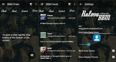 BBM Mod Ralova Transparan Versi 2.10.0.35 apk With Many Feature