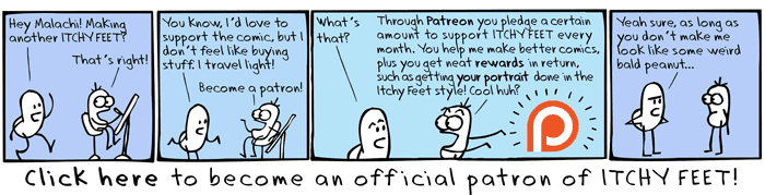 support itchy feet on patreon! become a patron