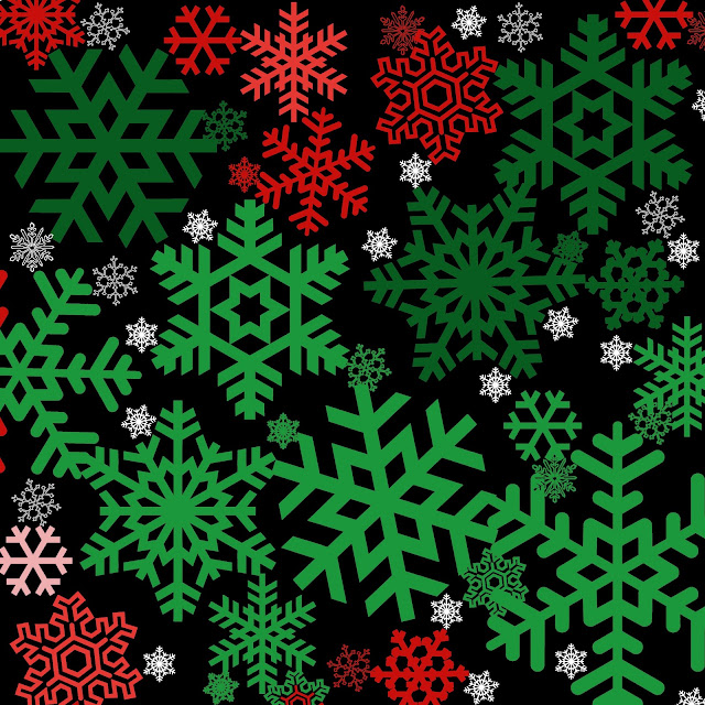 Red And Green Snowflakes Freebie week: snowflakes!