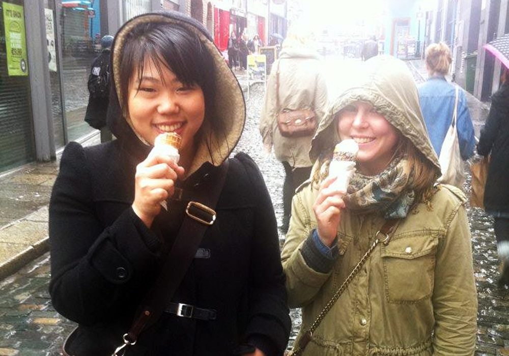 Annabelle Choi and Chelsea Watson in Dublin