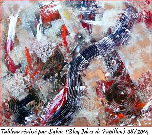 Id es de papillon tableau peinture acrylique sur toile id es claires e - Idee tableau peinture ...