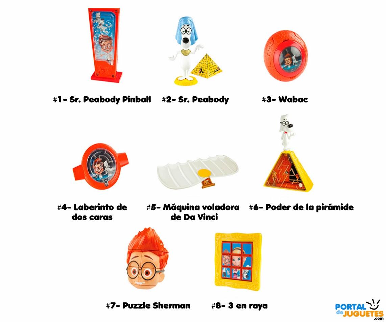 juguetes mr peabody y sherman happy meal mcdonalds nombres