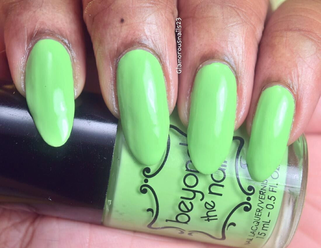 Beyond The Nail Spring Green Swatch