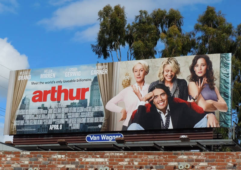 Arthur movie billboard