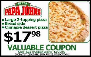 Papa Johns printable