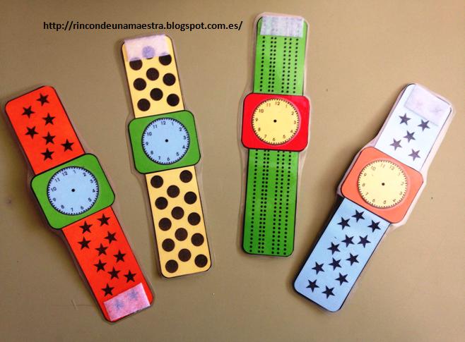 Rinc n de una maestra relojes de mu eca - Manualidades relojes infantiles ...