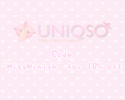 "Use the code ""missminish"" for 10% off your order!"