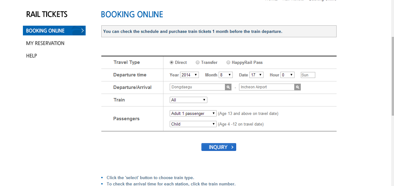 How to get rail tickets through online