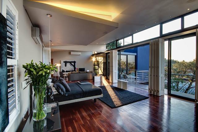 Modern bedroom with modern furniture