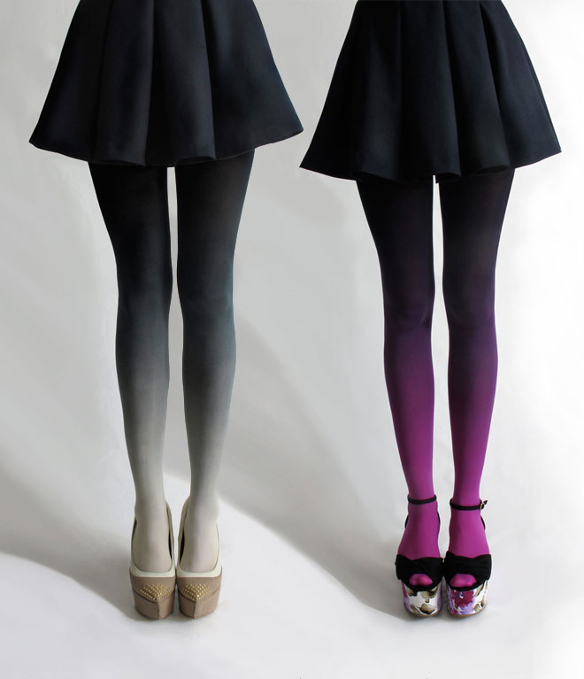 Life Times and Haberdashery Ombre Tights