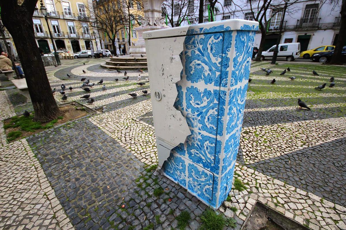 Vom schnöden Stromkasten zur Keramik-Fliesen Illusion | StreetArt ...