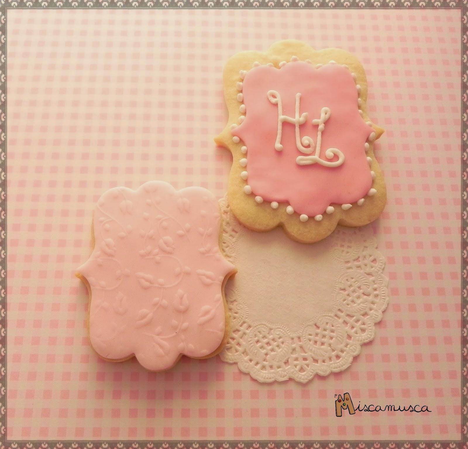 Galletas boda rosa