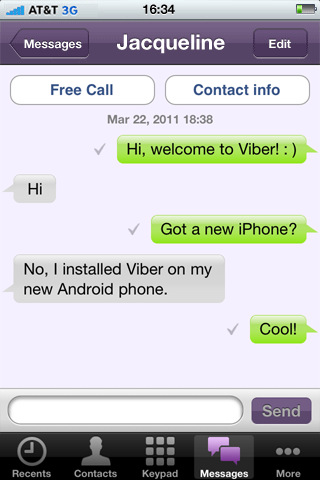 Download Viber from the App Store