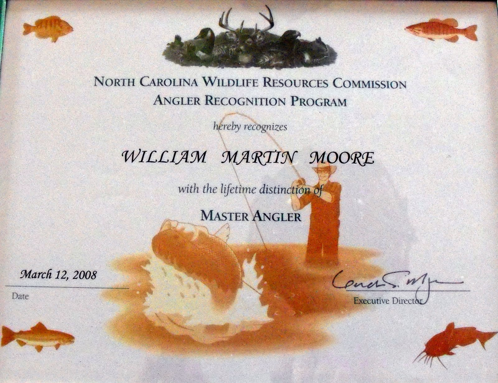 Master Angler Certificate