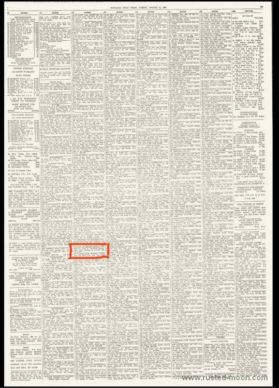 Winnipeg Free Press, 14.8.1964
