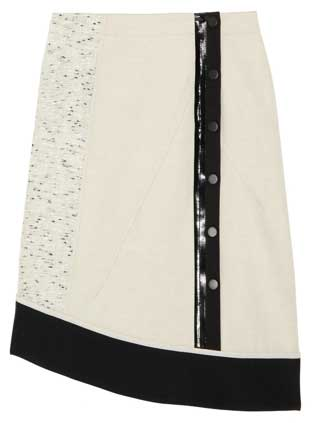derek lam cotton linen blend skirt