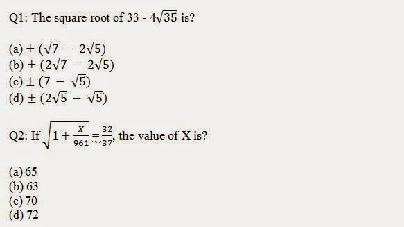 Square Root and Cube Root Questions with Answers