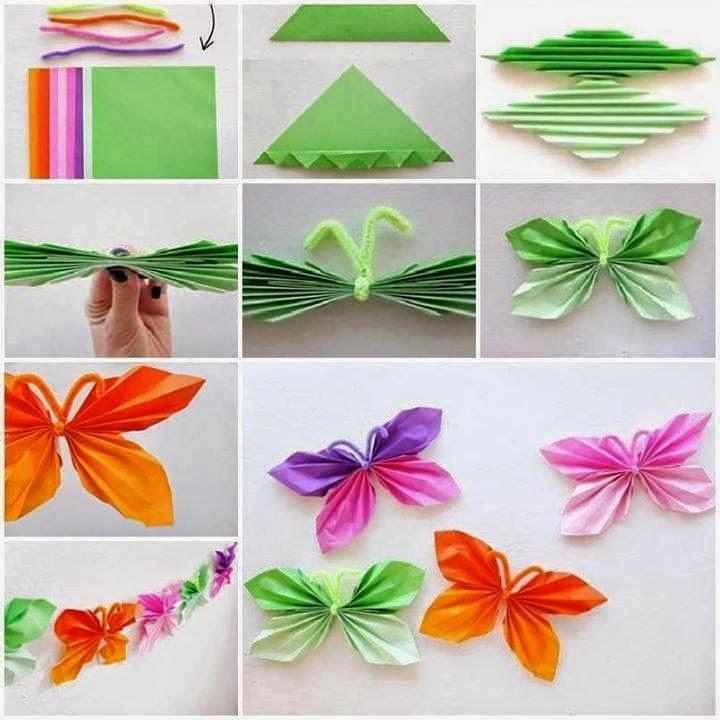 El detalle que hace la diferencia tutoriales para - Como hacer mariposas de papel para decorar paredes ...