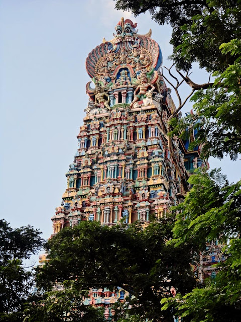 Meenakshi Temple tower in Madurai Tamil Nadu