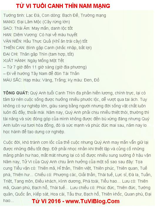 Tu Vi Tuoi Canh Thin Nam Mang