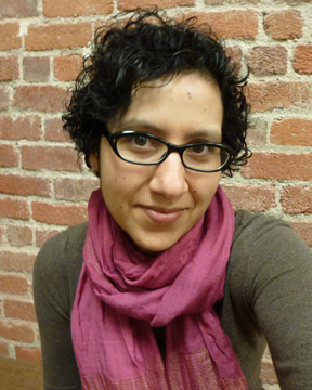 Gigi Pandian post-chemo hair, March 2013