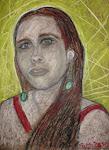 """ritratto di """"_g"""" in oil pastel 41x29 cm"""