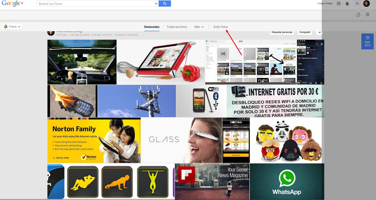 subir fotos google+