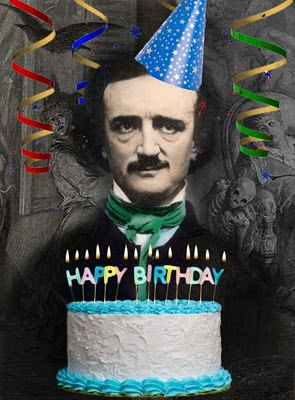 Edgar Allan Poe Birthday Cake