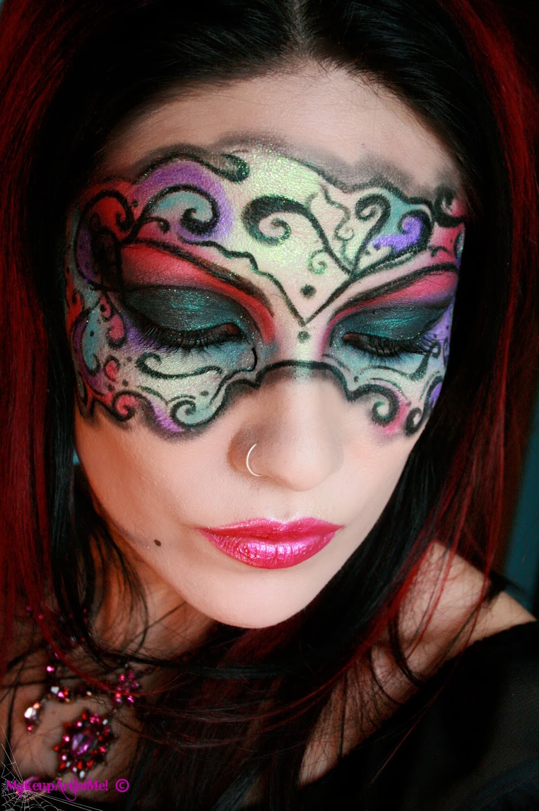 Make up Artist Me!: Masked Beauty  Masquerade Costume - Makeup Mask Ideas