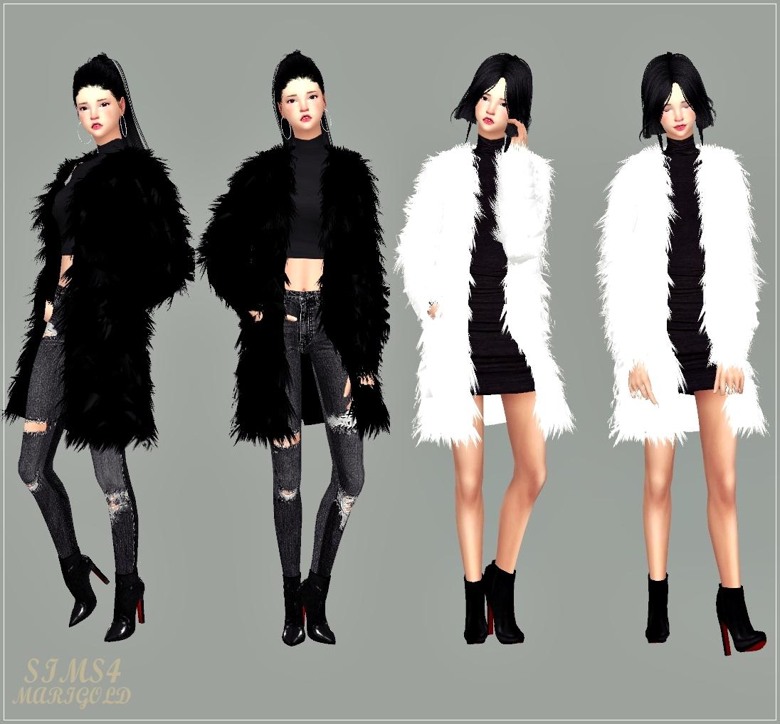 Sims 4 fluffy jacket