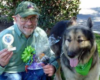 Teddy, a senior malamute-shepherd mix took third for most handsome male at the 18th annual ugliest dog contest
